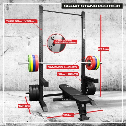 "SQUAT STAND PRO HIGH ""HD"""
