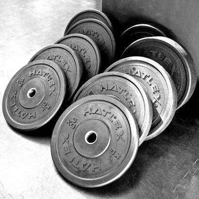 HEAVY DUTY BUMPER PLATES 150Kg Package - MINIMUM OF QUANTITY FOR EACH PURCHASE IS 10 SET