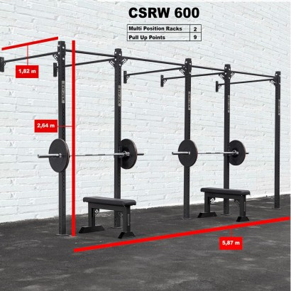 CROSS STATION + RACK 600 WALLMOUNTED