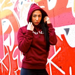 Hatlex Dark Red Woman Hoodie