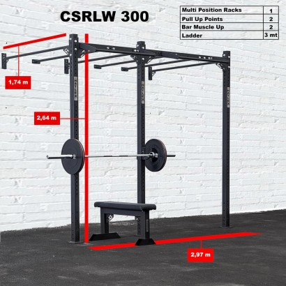 CROSS STATION + LADDER 300 WALLMOUNTED