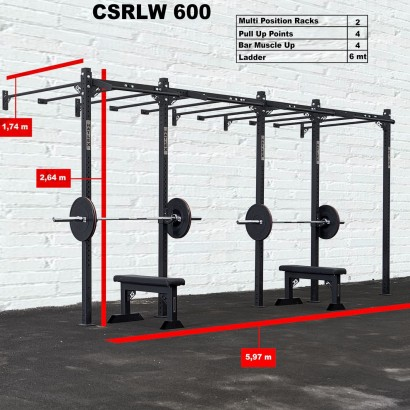 CROSS STATION + LADDER 600 WALLMOUNTED