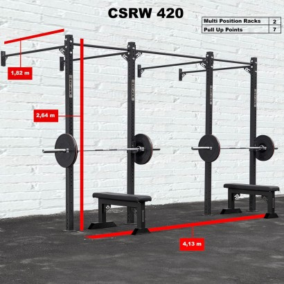 CROSS STATION + RACK 420 WALLMOUNTED