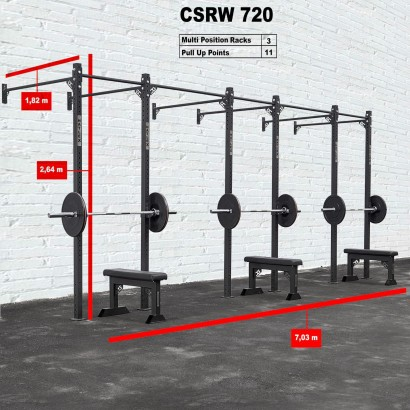 CROSS STATION + RACK 720 WALLMOUNTED