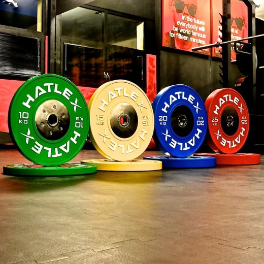 COMPETITION BUMPERS ELITE SET 140KG