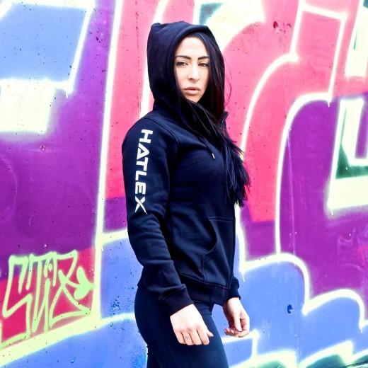Hatlex Black Woman Hoodie